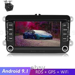 7 AUTORADIO Android 9.1 RDS GPS NAVI Wifi +Caméra For VW GOLF 5 6 Passat Touran