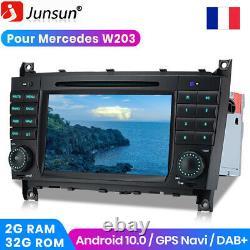 7 Android 10.0 Autoradio GPS Navi CD DAB Pour Mercedes Benz CLK-W209 W203 C220