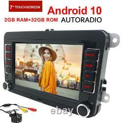 7 Android 10 2+32GB Autoradio GPS Navi DAB pour VW Golf 5 Passat Tiguan Touran