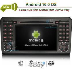 7 Android 10 Autoradio GPS Navi Navigation Mercedes Benz ML/GL-Class W164 X164
