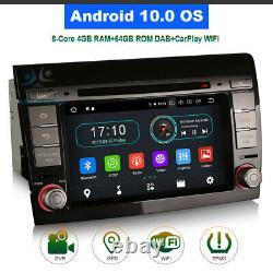 7 Android 10 BT USB Lecteur DVD GPS DAB Autoradio Navi for Fiat Bravo 2007-2014