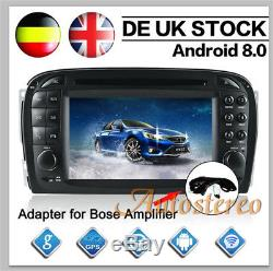 7 Android 8.0 GPS Navi CD DVD Player For Mercedes Benz SL R230 SL500 Autoradio