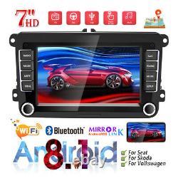 7 Autoradio 2 DIN Android 8.1 GPS NAVI WIFI Bluetooth Pour VW GOLF PASSAT POLO