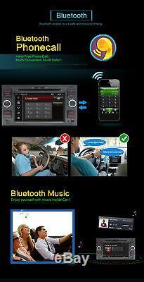 7 Autoradio 2 DIN DVD Stéréo GPS Navi BT DABFor Ford Focus/Transit/C-MAX/Fiesta