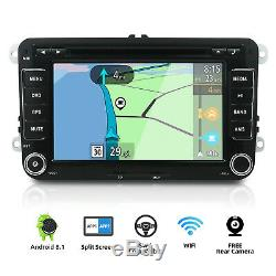 7'' Autoradio 2 Din DVD Stéréo GPS Navi pour VW Passat T5 Golf Polo Android 8.1