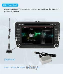 7 Autoradio GPS NAVI DVD FM BT Pour VW POLO Volkswagen PASSAT GOLF 5 6 Caddy