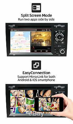 7 Autoradio GPS Navi Android 10 Pour Audi A4 B6 B7 S4 RS4 SEAT 2003-2011 BT DAB