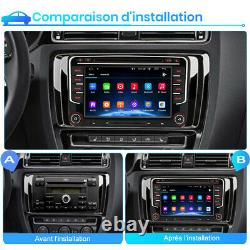 7 Autoradio Pour VW Golf 5 6 Touran Passat Skoda Seat Android GPS Navi BT DAB+