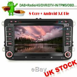 7 DAB+DVD BT Autoradio Android 9 GPS NAVI For VW Touran Scirocco Golf Passat T5
