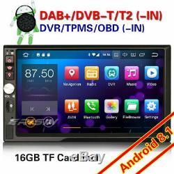 7 DAB+ Navi Android 8.1 Universal Double Din Autoradio WiFi DVR OBD2 CAM TNT-IN