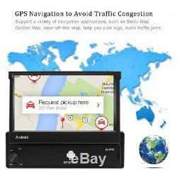 7 HD Autoradio 1 DIN Android 8.1 Écran tactile Bluetooth GPS NAVI WIFI AUX FM