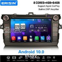 8 8-Core Android 10 CarPlay Autoradio DSP Navi WiFi Toyota Auris Corolla Altis
