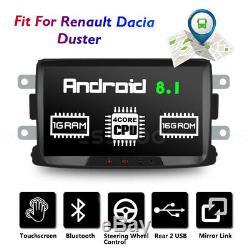 8 Autoradio Android 8.1 Bluetooth GPS Navi Pour Renault Dacia Duster Sandero
