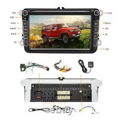 8 Autoradio Android 8.1 GPS Navi 2DIN BT FM AM pour VW GOLF 5 V 6 Passat+Caméra
