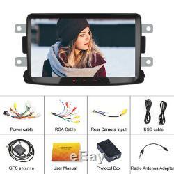 8 Autoradio Android Bluetooth GPS Navi 2 DIN For Renault Dacia Duster Sandero
