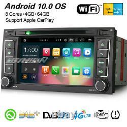8-Core Android 10 DAB+ Navi DVR CarPlay DSP Autoradio For VW T5 Multivan TOUAREG