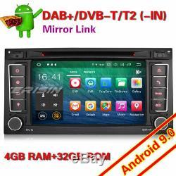 8-Core Android 9.0 Autoradio GPS DAB+ 4G DVR TNT Navi for VW Touarge T5 Multivan