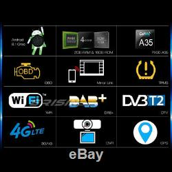 9Android 8.1 Autoradio GPS DAB+NAVI Passat Golf Mk5/6 Touran Sharan Seat Skoda