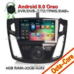 9DAB+Autoradio Android 8.0 GPS NAVI For Ford Focus DVBT2 OBD WIFI 4G Bluetooth