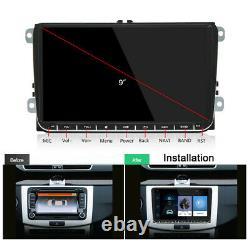 9 2DIN Autoradio Android 8.1 GPS NAVI For VW GOLF5 PASSAT TIGUAN TOURAN +Caméra