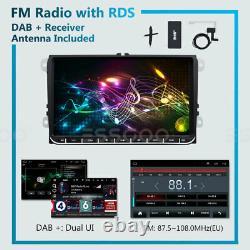 9 AUTORADIO Android 9.1 GPS NAVI DAB+ BOX + Caméra For VW GOLF 5 6 Passat Polo