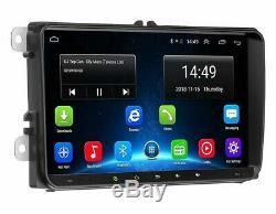 9 AUTORADIO GPS NAVI 2 DIN +Caméra For VW GOLF 5 6 Passat Touran Caddy Polo EOS