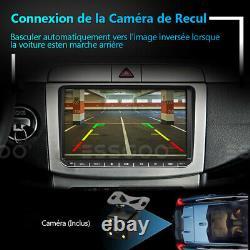 9 AUTORADIO GPS NAVI RDS 2 DIN +Caméra For VW GOLF 5 6 Passat Touran Caddy Polo