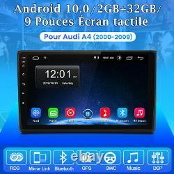 9 Android 10.0 Autoradio GPS WIFI DAB+ DSP RDS Navi USB Pour Audi A4 2000-2009