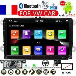 9 Android 10 Car Stereo Radio GPS Navi 32GB for VW GOLF PASSAT POLO Jetta +CAM