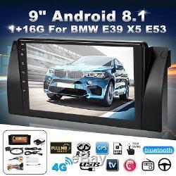 9'' Android 8.1 1+16G GPS Navi Stéréo Autoradio Wifi Tactile per BMW E38 E39