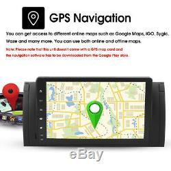 9'' Android 8.1 Quad-Core GPS Navi Autoradio Stéréo Wifi DAB+ pour BMW E39 /
