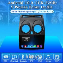 9 Android Autoradio Pour Nissan Qashqai J10 2006-2013 GPS SAT Navi BT DAB WiFi