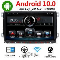 9'' Autoradio 2 Din 32G Stéréo GPS Navi pour VW Passat T5 Golf Polo Android 10.0