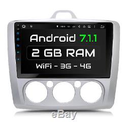 9 Autoradio Avec Android 7.1.1 2gb Ram Approprié Pour Ford Focus 2005-2010 Navi