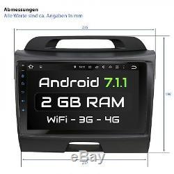 9 Autoradio Avec Android 7.1.1 Approprié Pour Kia Sportage Typ Sl 2gb Wifi Navi