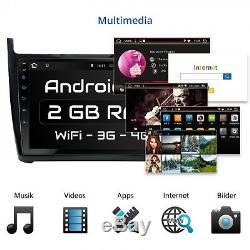 9 Autoradio Avec Android 7.1 Approprié Pour Vw Polo 2014-2017 2gb Wifi 3g Navi