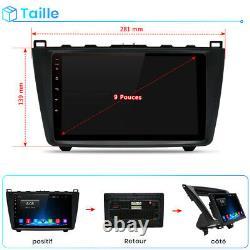 9 Autoradio Stéréo Android10.0 Bluetooth GPS NAVI RDS Pour Mazda 6 2007-2012