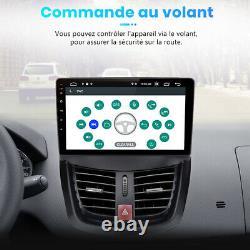 9 Autoradio Stéréo Android 10.0 GPS NAVI WIFI DAB+ Pour Peugeot 207 2006-2015