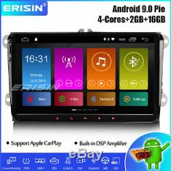 9 DAB+ Android 9.0 Autoradio GPS DSP Navi pour VW Passat Golf 5 Polo Tiguan Eos