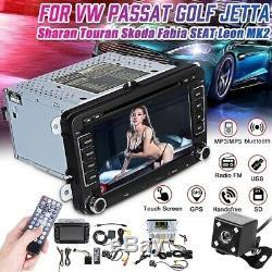 AUTORADIO GPS NAVI 2 DIN +Caméra DVD VW GOLF 5 6 Passat Touran Caddy Polo EOS
