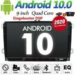 Android10.0 9 2 DIN Autoradio GPS NAVI WIFI Pour VW GOLF 5 6 TOURAN PASSAT POLO