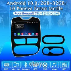 Android10.0 Autoradio GPS 2+32GB DAB+ Pour Renault Clio 4 2012-2016 WIFI Navi BT