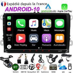 Android10 9 32GBROM Autoradio GPS NAVI WIFI Pour VW GOLF TOURAN PASSAT POLO DAB