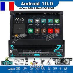 Android 10.0 1Din Amovible Autoradio Antivol DAB+ GPS DVD TNT Navi 7 MirrorLink