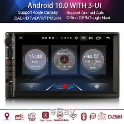 Android 10.0 2din Autoradio Navi Bluetooth DAB+WIFI TNT TPMS 4G OBD 3-UI Carplay