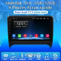 Android 10.0 Autoradio Pour Audi TT MK2 8J 2006-2014 GPS Navi WIFI Bluetooth DAB