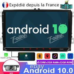 Android 10 Carplay 2+32GB 9 Autoradio Navi Pour VW GOLFPOLO PASSAT JETTA SHARAN