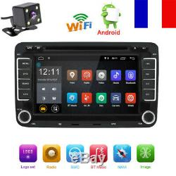 Android 7.1 Autoradio 2DIN DVD GPS Navi pour VW GOLF 5 PASSAT TOURAN POLO Caméra