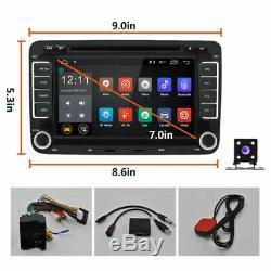 Android 7.1 Autoradio 2DIN GPS Navi DVD pour VW GOLF 5 PASSAT TOURAN POLO Caméra