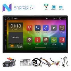 Android 7.1 GPS Navi Double Din avec Caméra 1080p Vidéo Lecteur Multimédia WIFI